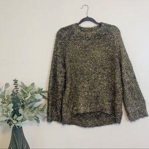Black and Gold Tinsel Sweater